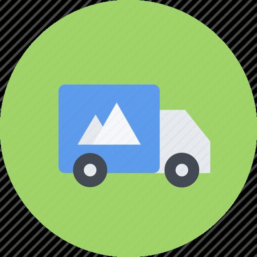 brand, branding, design, designer, truck, typography icon