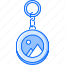 advertising, brand, design, keychain, print icon