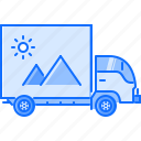 advertising, brand, car, design, print, truck icon