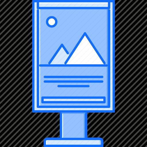 advertising, banner, brand, city, design, poster, print icon