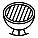 charcoal, grill, thin, vector, yul960 icon