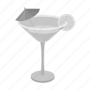 alcohol, cocktail, drink, glass, lemon icon