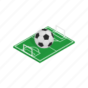 ball, brazil, flag, football, isometric, soccer, sport icon