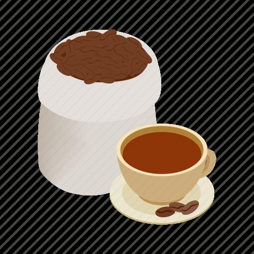 brazilian, brown, cafe, coffee, espresso, isometric, morning icon