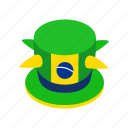 brazil, celebration, hat, isometric, people, soccer, sport