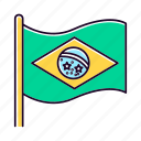 brazil, country, culture, flag, nation, patriot, state