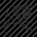 urban, landmark, ropeway, brazilian, favela, cableway, transportation icon