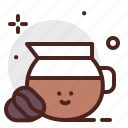 beverage, brunch, coffee, food, pattiserie, pot icon