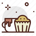 beverage, brunch, food, morning, muffin, pattiserie icon