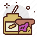 beverage, brunch, food, jelly, pattiserie, peanutbutter, sandwich icon