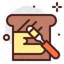 beverage, brunch, butter, food, pattiserie, toast icon
