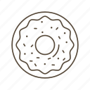 doughnut, donut, sweet, breakfast