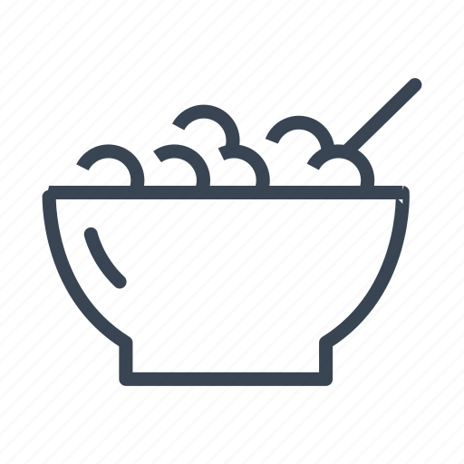 bowl, breakfast, cereal icon