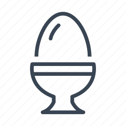 boiled, cup, egg, food icon