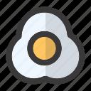breakfast, chicken, egg, fried egg, omelet, omelette, protein icon