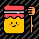 honey, jar, stick, cute