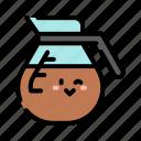 coffee, maker, pot, cute