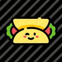 burrito, tortilla, wrap, cute