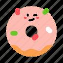 sweet, glazed, donut, cute