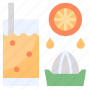 drink, food, fruit, glass, juicer icon