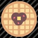 food, meal, sweet, toast, waffles icon