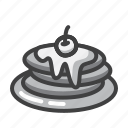 breakfast, eat, food, morning, pancakes icon