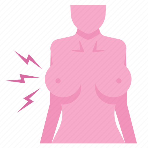 breast, cancer, disease, pain, risks, symptoms icon