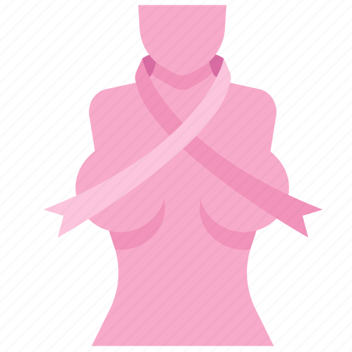 breast, cancer, care, disease, ribbon, woman, women icon