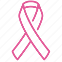 breast, cancer, care, healthcare, pink, ribbon, sign icon