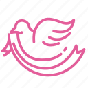bird, breast, cancer, disease, fly, free, ribbon icon
