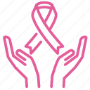 awareness, breast, cancer, care, female, treatments, women icon