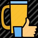 beer, favourite, krug, like, mug, thumb, up