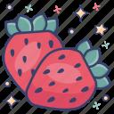 fresh strawberries, fruit, healthy diet, healthy food, strawberries icon