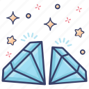 allotrope, diamonds, jewel, precious stone, rhombus
