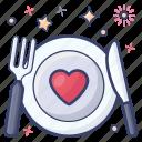 cutlery, dine in, food plate, silverware, tableware icon