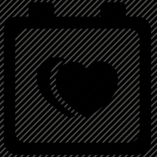 bride, calendar, data, heart, love, romantic icon