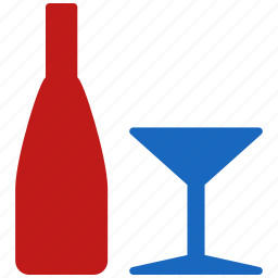 alcohol, bar, bottle, drink, glass, restaurant, wine icon
