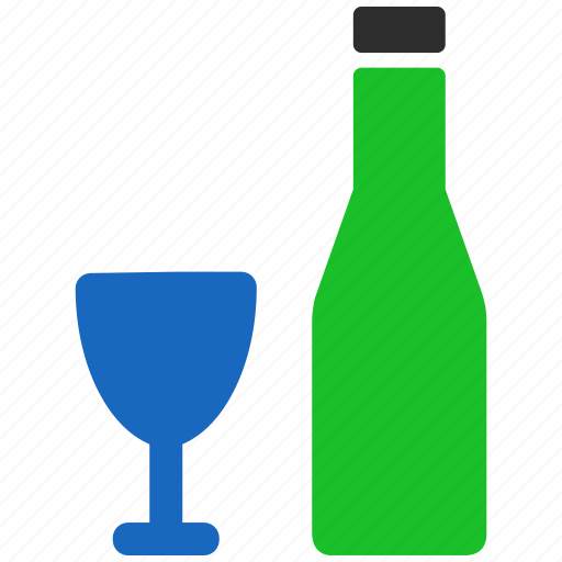 alcohol, bar, beer, bottle, drink, glass, wine icon