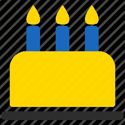 birthday, cake, cupcake, holiday, pie, piece, sweet icon