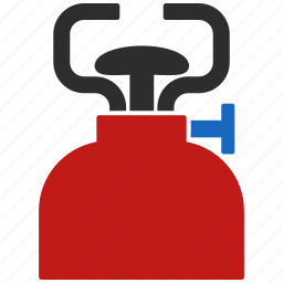 camping, equipment, fire, fuel, gas burner, light, power icon