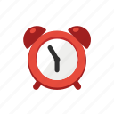 alarm, alert, cartoon, clock, red, time, wake icon