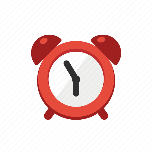 alarm, alert, cartoon, clock, red, time, wake icon