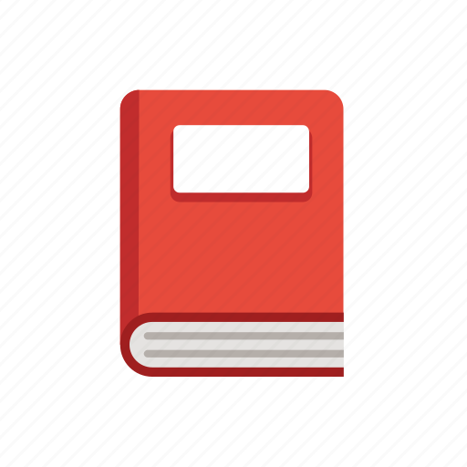 book, learning, library, reading, red, school, textbook icon