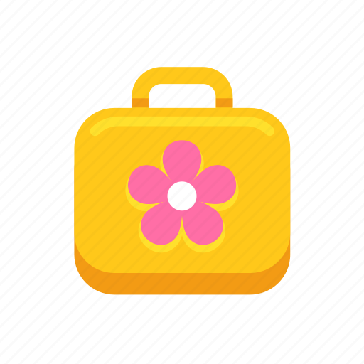 box, cute, flower, lunch, lunchbox, school, yellow icon