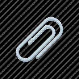 attachment, clip, document, file, paper, paperclip, stationery icon