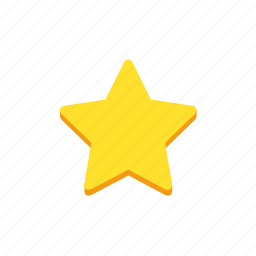 achievement, award, golden, rating, star icon