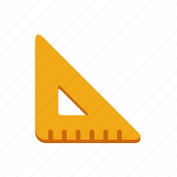 angle, drawing, geometry, measure, ruler, tool, triangle icon