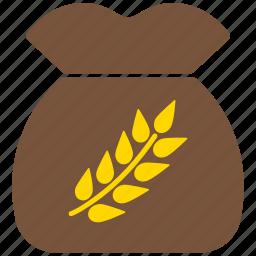 grain, rice, sack, wheet icon
