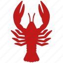 cancer, lobster, omar, sea food, seafood icon