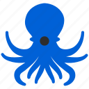 cephalopod, devilfish, octopus, restaurant, sea food, seafood icon